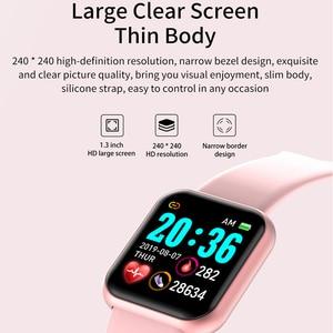 Image 2 - Reloj inteligente Ip67 para Android e IOS, reloj inteligente electrónico con control del ritmo cardíaco y de la presión sanguínea y resistente al agua para monitor, seguidor Fitness