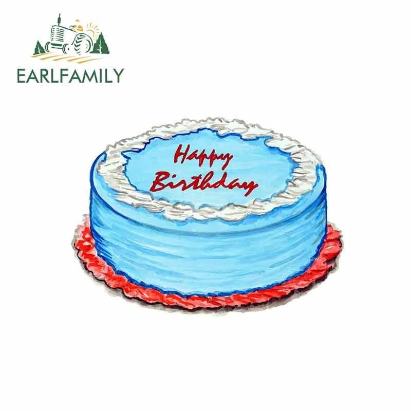 Earlfamily 13cm X 9 6cm Birthday Cake Graphics Funny Car Stickers Bumper Trunk Laptop Wall Door Diy Birthday Party Car Decals Car Stickers Aliexpress