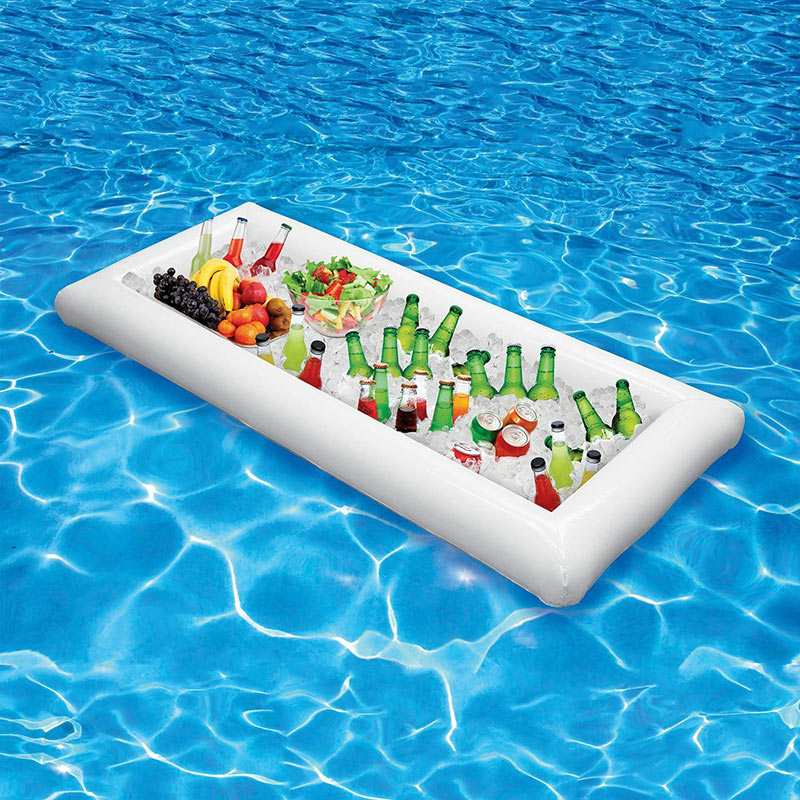 Party Inflatable Salad Bar Buffet Pool Inflatable Ice Bucket Outdoor Swimming Pool Drink Float Holder Food Supplies Toy Stand