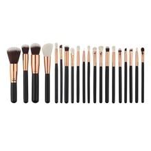 цены на New 20pcs Make Up Fashion Pincel Maquiagem Foundation Eyebrow Eyeliner Blush Cosmetic Concealer Brushes  в интернет-магазинах