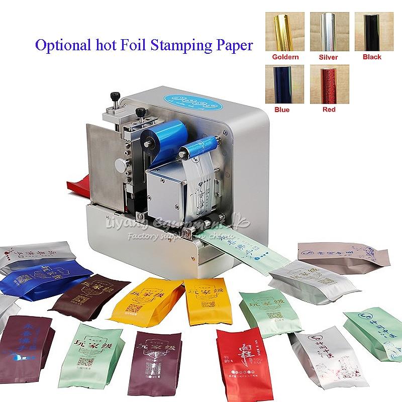 foil press machine digital hot foil stamping printer machine for tea present bags hot foil printing with hot Foil Stamping paper