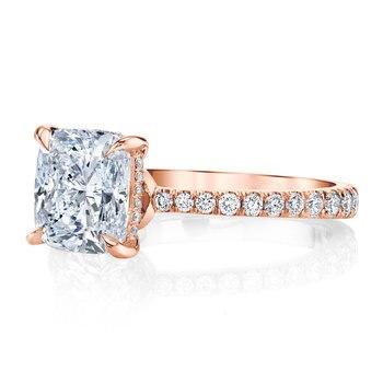 Luxury Solid 14K Gold Moissanite Engagement Ring for Women 2