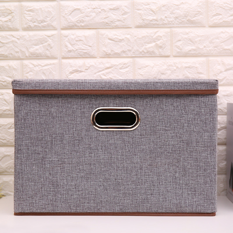 2019 коробка для хранения товаров для дома из хлопка и льна, большой размер, складная коробка для хранения, сделанная из нетканого материала