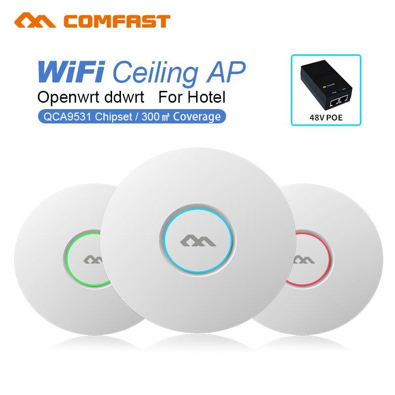 COMFAST CF-E320V2 routeur sans fil intérieur 300M plafond AP Openwrt WiFi Point d'accès AP 6dbi antenne 48vpoe Wi fi amplificateur de Signal