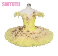 Yellow Ballet Tutu,Classical ballet tutu with high quality lace,professional tutu,tutu dance BT9024