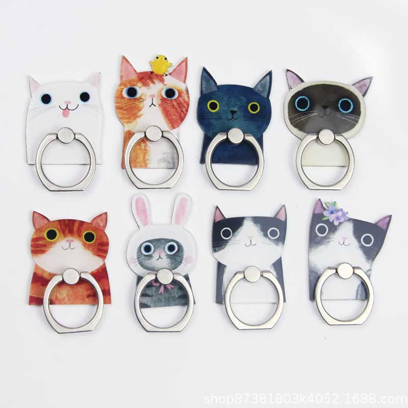 Cartoon Cats Universal Phone Ring Holder Mobile Phone Holder Stand Finger Ring Holder Suporte Celular For IPhone Samsung Table