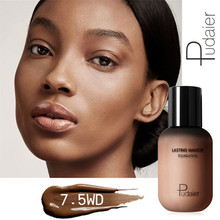 40ml Pudaier Liquid Foundation Dark Color Makeup Base Concealing Full Coverage Oil Control Make Up Maquillaje Profesional
