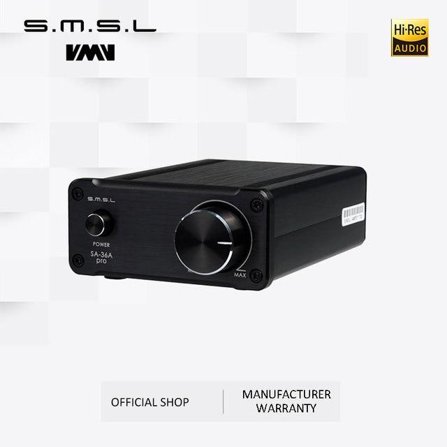 SMSL SA 36A פרו AMP HIFI גדול כוח דיגיטלי משולב Tripath סטריאו מגבר עם 12V 3.8A כוח מתאם שחור כסף זהב