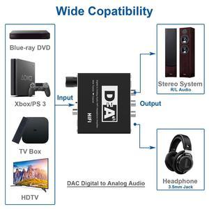 Image 5 - דיגיטלי לאנלוגי ממיר אודיו אופטי Toslink קואקסיאלי לאנלוגי RCA L/R 3.5mm שקע אודיו מתאם עבור xbox HD DVD Blu ray PS3