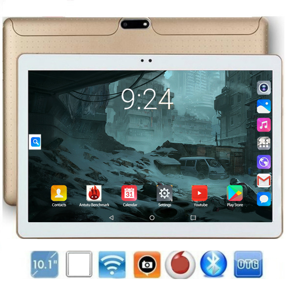 2020 Global 10 Inch Tablet PC 6GB RAM 128GB ROM 1280*800 IPS Dual SIM Card 4G LTE Cell Phone Wifi Android 9.0 Tablet 10.1 Kid