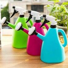 Regadera de plástico 2 en 1 para plantas de jardín interior, Agua pulverizada a presión, hervidor ajustable, 1L, TN99