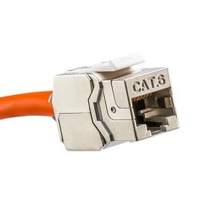 Image 3 - Linkwylanเครือข่ายCat5e Cat6 Cat6Aไม่มีแจ็คKeystoneโมดูลป้องกันเต็มรูปแบบRJ45ซ็อกเก็ตLSA Toolfree Termination