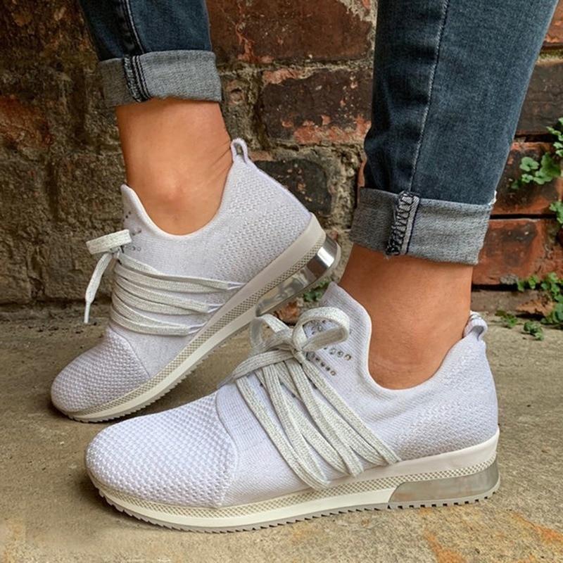 2020 Hot Women Casual Shoes Fashion Breathable Walking Mesh Flat Shoes Woman White Sneakers Women Tenis Feminino Shoes Sport