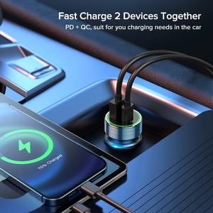 Image 5 - PD USB C Car Charger Quick Charge 4.0 3.0 38W Fast Charging For iPhone 12 11 XS X XR 8 7 Xiaomi QC4.0 QC3.0 Type C Phone Charger
