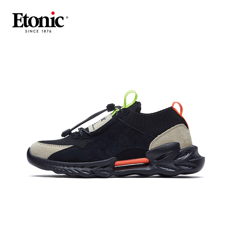 ETONIC Men's Running Shoes Genuine Leather Breathable Sports Shoes Man Outdoor Cushioning Nonslip Walking Jogging Sneakers