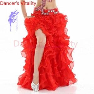 Image 3 - ¡Gran oferta! Vestido de danza del vientre senior yarn, disfraces sexis para mujeres, falda de escenario de baile shasha Latina para mujeres, faldas divididas para danza del vientre