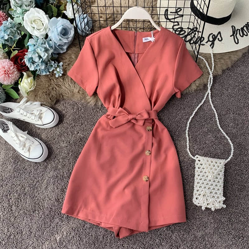 H65f46168d72443fa8e37ad2ffb13aa74H - Candy Color Elegant Jumpsuit Women Summer Latest Style Double Ruffles Slash Neck Rompers Womens Jumpsuit Short Playsuit