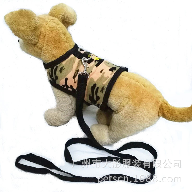 New Style Pet's Chest-back Dog Hand Holding Rope Camouflage Chest And Back With Nursing Pet Supplies