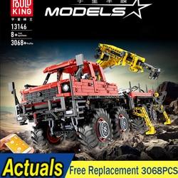 Mould King 13146 Technic Articulated Logging Trucks Remote Control Model MOC-15805 Building Block Bricks Kids Toys Gifts 3053Pcs
