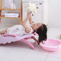Children's Shampoo Chair Stool Baby Shampoo Bed Recliner Artifact Child Foldable Sitting Lie Large Baby Bath Seat Free Shipping