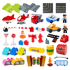Big Building Blocks Compatible Large Bricks Road Plate Car Parking Pole Fuel Station City Traffic Kids Educational Creative Toys