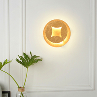 Retro vintage led de madeira decorativa lâmpadas parede quarto sala estar corredor escada led luzes parede iluminação arandela dispositivo elétrico|Luminárias de parede| |  -