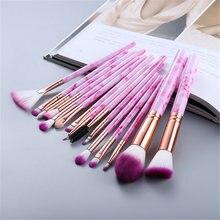 Fld 5/10/15 pçs pincéis de maquiagem conjunto pó sombra de olho fundação blush blush blush maquiagem escova beleza kit ferramentas cosméticos maquiar
