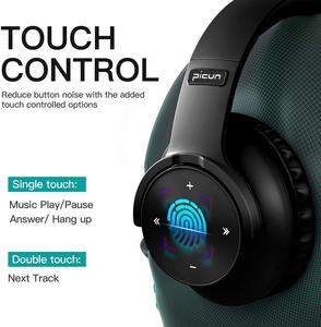 Image 4 - B8 Bluetooth 5.0 Headphones 40H Play time Touch Control Wireless Headphone with Mic Over Ear Earphone TF Headset for phone PC