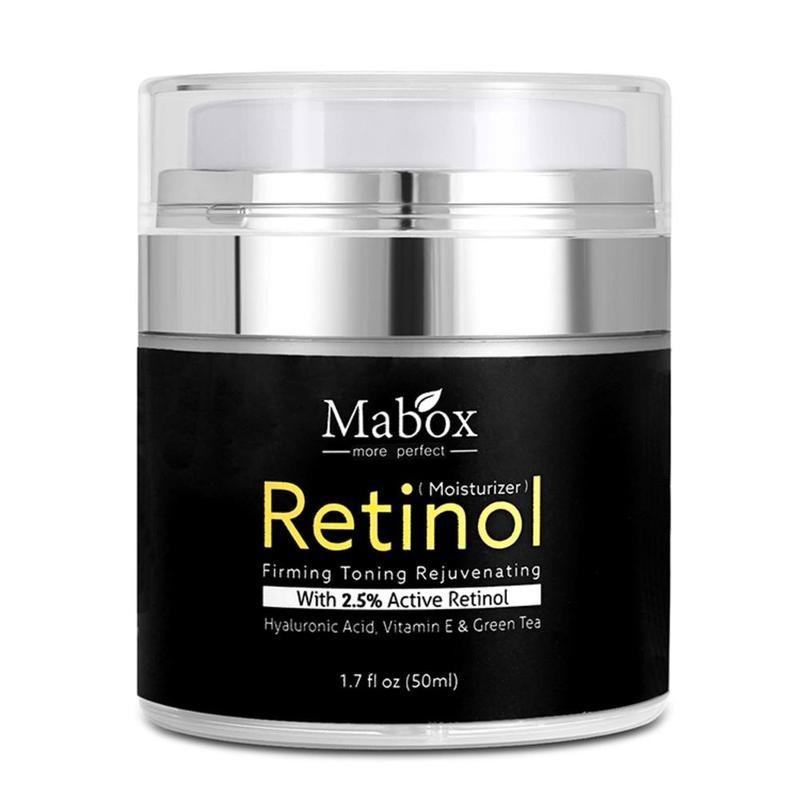Mabox Retinol 2.5% Moisturizer Face Cream Hyaluronic Acid AntiAging Remove Wrinkle Vitamin E Collagen Smooth Whitening Cream