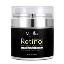 Mabox Retinol 2.5% nemlendirici yüz kremi hyaluronik asit anti-aging kırışıklık kaldırmak E vitamini kolajen pürüzsüz beyazlatıcı krem