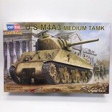 1/48 USA M4A3 Medium Tank Sherman Military Assemble Vehicle Model Toy HOBBYBOSS