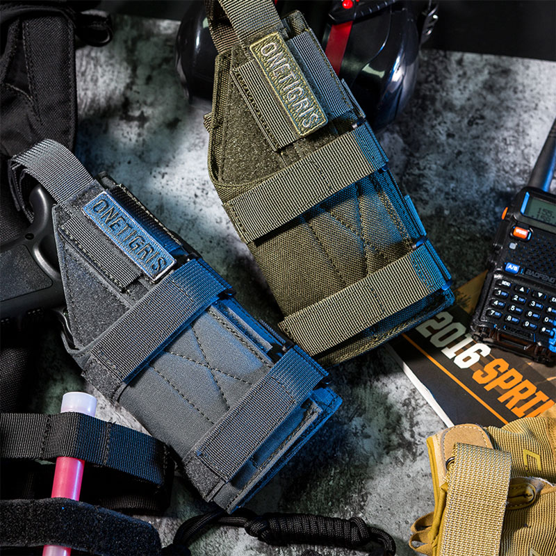 Onetigris tático coldre de arma molle cinto modular minimalista pistola coldre para glock 17 19 22 23 31 32 34 35