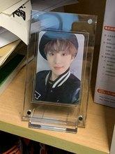 Mini Carte Collection Photo Porte-Protection HD ACRYLIQUE Afficheur De Bureau Cadre Magnétique Album Carte Postale Souvenir Présentoir