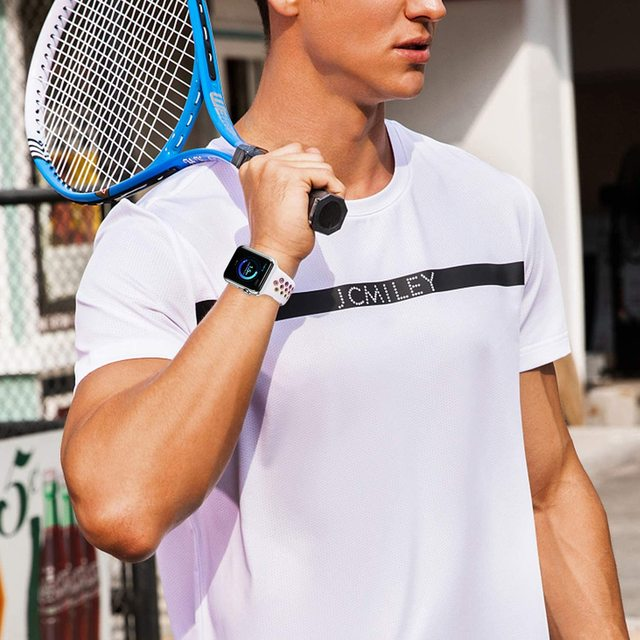 Ремешок сменный силиконовый для apple watch мягкий спортивный