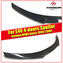 E46 4-door Spoiler stem Wing M4 style Carbon Fiber For BMW 3 Series  318i 320i 323i 325i 328i rear diffuser 1996-04