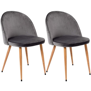 a set of 2 medieval retro velvet padded dining tables and chairs, solid wood legs, suitable for dining room bedroom study
