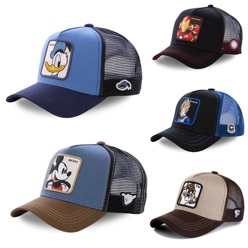 New Brand Dragon Ball Snapback Cotton Baseball Cap Men Women Hip Hop Dad Mesh Hat Trucker Hat Dropshipping