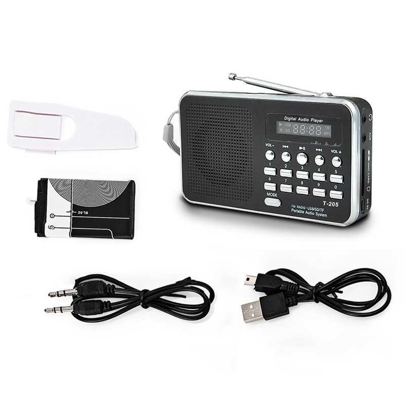 AMS-Mini Radio Fm portátil altavoz estéreo compatible con tarjeta Sd/Tf con Usb