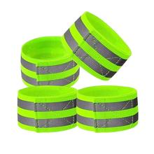 Reflective Bands Elasticated Armband Wristband Ankle Leg Straps Safety Reflector Tape Straps for Night Jogging Walking Biking