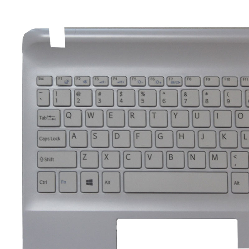 New for SONY Vaio SVF15 SVF154 SVF153 US keyboard upper cover touchpad white