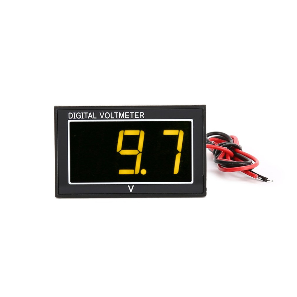 DC 2.5-30V 2-Wire LED Digital Display Panel Voltmeter Electric Voltage Meter <font><b>Volt</b></font> Tester for Car Motorcycle <font><b>Battery</b></font> Cart image