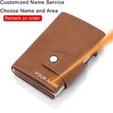 Men Wallets Rfid Minimalist Engraver Custom Personalize Fashion Carteras Laser