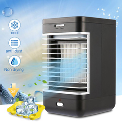 EU Plug Air Conditioning Table Air Cooler Portable Humidifier Purifier Fan Cooling Flow Filter Anti-dust Fresh Air Fan