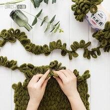 Палец круг линия ручной вязки шапка шарф одеяло рука ткачество пряжа плетение DIY линия