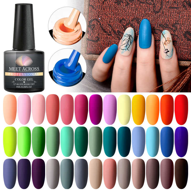 Meet Across 8ml Color Mate Uv Conjunto De Esmaltes De Uñas