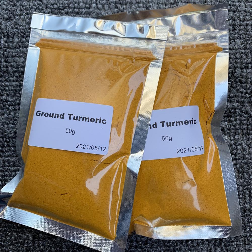 50g PURE BULK TURMERIC ROOT POWDER - CURCUMA LONGA CURCUMIN GROUND TUMERIC FREE