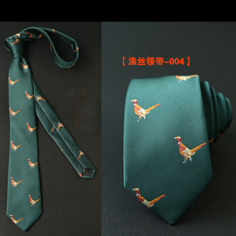 Male Tie Personality Embroidery Business Banquet Casual Party Accessories Gift Animal Bee Fashion Korean Black British Necktie