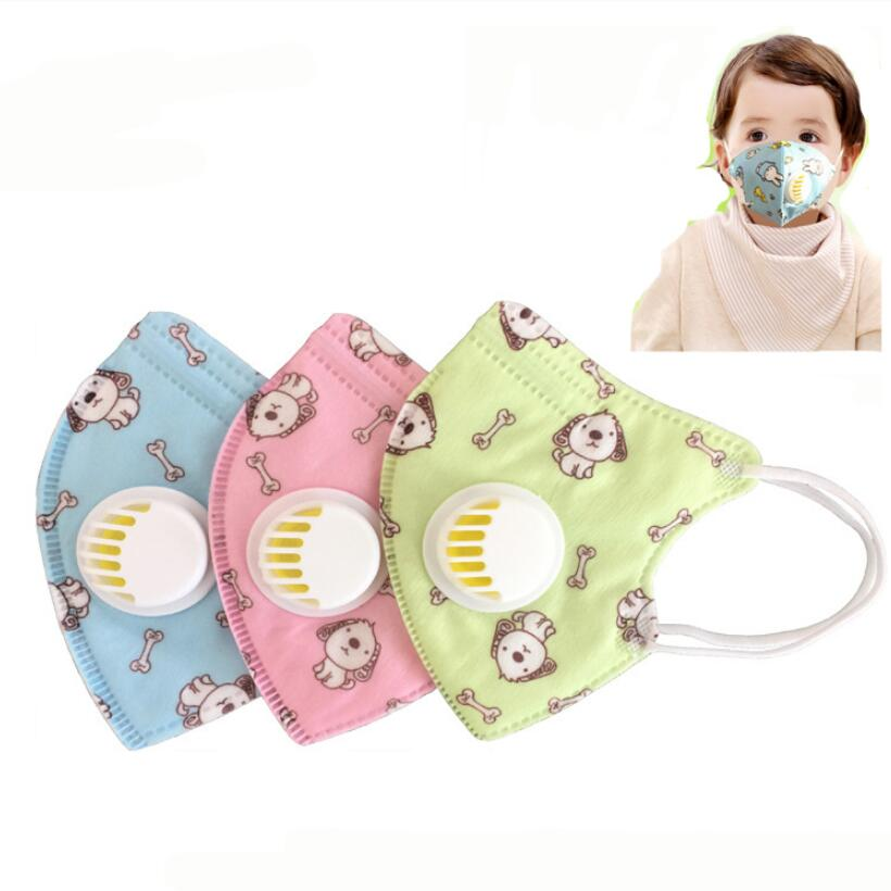 Moledodo Children N90 Vertical Folding Non Woven Fabric Mask With Breath Valve Anti Dust Mouth Muffle Mouth Mask PM2.5 Respirato