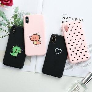 Lovely Heart Case For Xiaomi Redmi Note 7 Case 9 Pro Max 9S Matte Silicon Case For Xiomi Redmi Note 8 Pro 8T 5A Prime 7A 8A S2