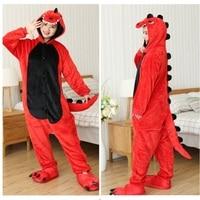 Adult Unisex Pajamas Sets One Piece Cosplay Christmas Costume Girl Boy Onesie Winter Sleepwear Dinosaur Halloween Gift PJS